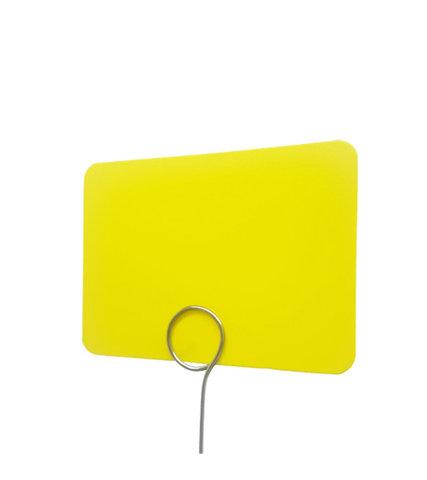 Табличка для нанесения надписей BB А7 (желтая)