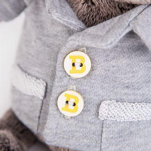 Кот Басик Baby в сером пиджачке