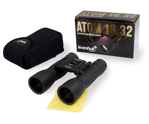 Бинокль Levenhuk Atom 16x32 с чехлом для хранения и салфеткой