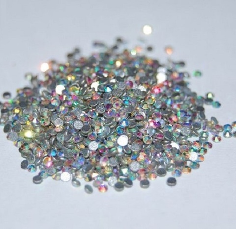 Стразы Crystal  разноразмерные  хамелион 1440 шт