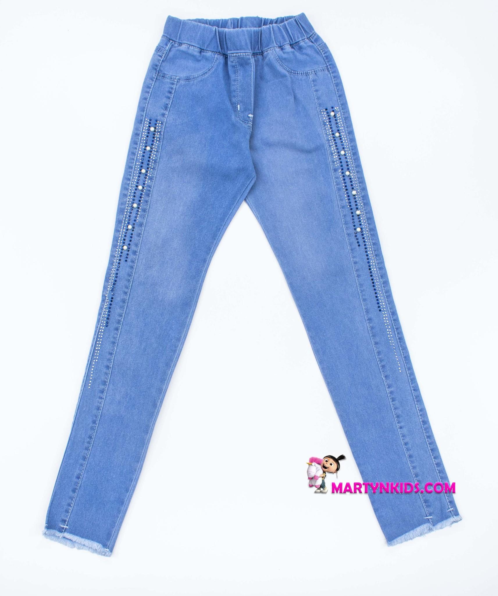 2447   джинсы  жемчужинки  стрейч
