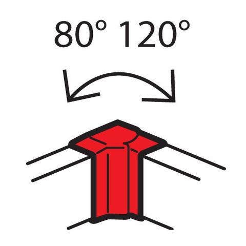 Кабель-канал 85x50 Внутренний изменяемый угол, от 80° до 120°. Цвет Белый. Legrand Metra (Легранд Метра). 638021