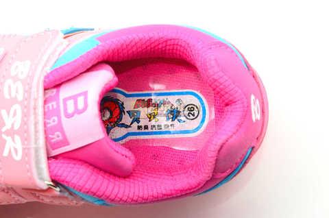 Светящиеся кроссовки Бебексия (BEIBEIXIA) для девочек, цвет розовый, светится вся подошва. Изображение 10 из 10.