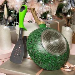 Подарочный набор: Сковорода-вок MALACHITE - Лопатка
