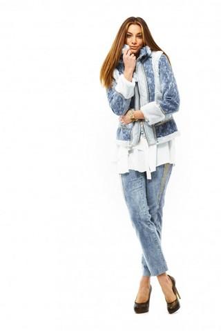 Пальто синее Elisa Cavaletti арт. EJW188002825