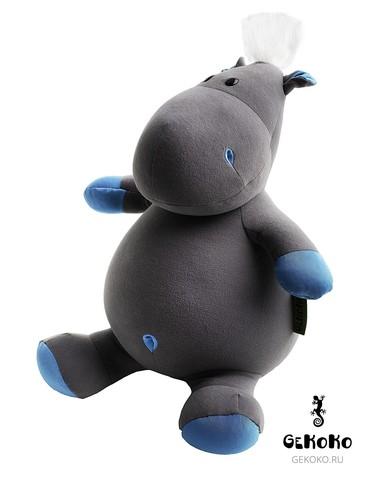 Подушка-игрушка антистресс «Бегемот малыш Няша», голубой 3