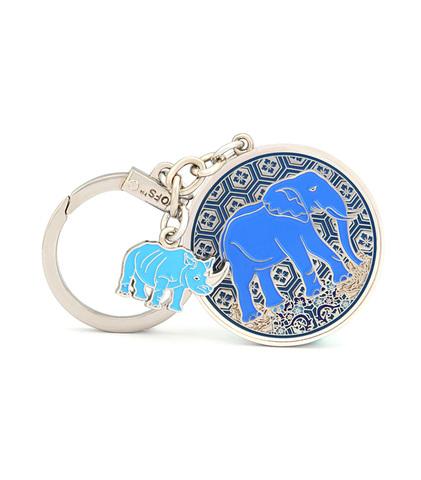 Амулет Синий слон & носорог