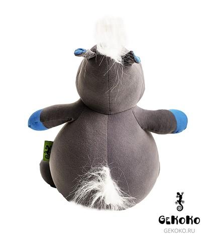 Подушка-игрушка антистресс «Бегемот малыш Няша», голубой 4