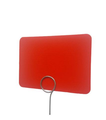 Табличка для нанесения надписей BB А7 (красная)