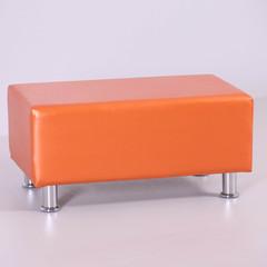 Пф-102 Пуфик прямоугольный для магазина (оранжевый)