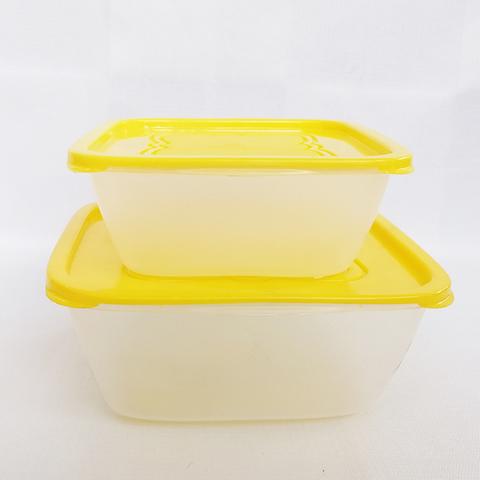 Емкость д/пикника 2шт (желт.крышкой)