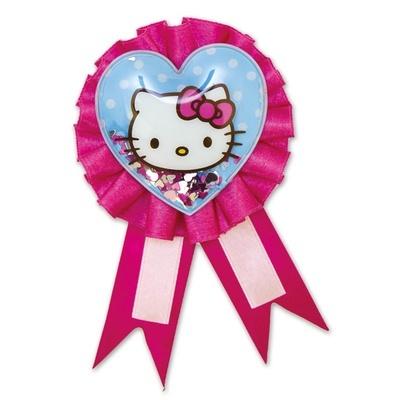 Значок Hello Kitty с розовой лентой фото № 2