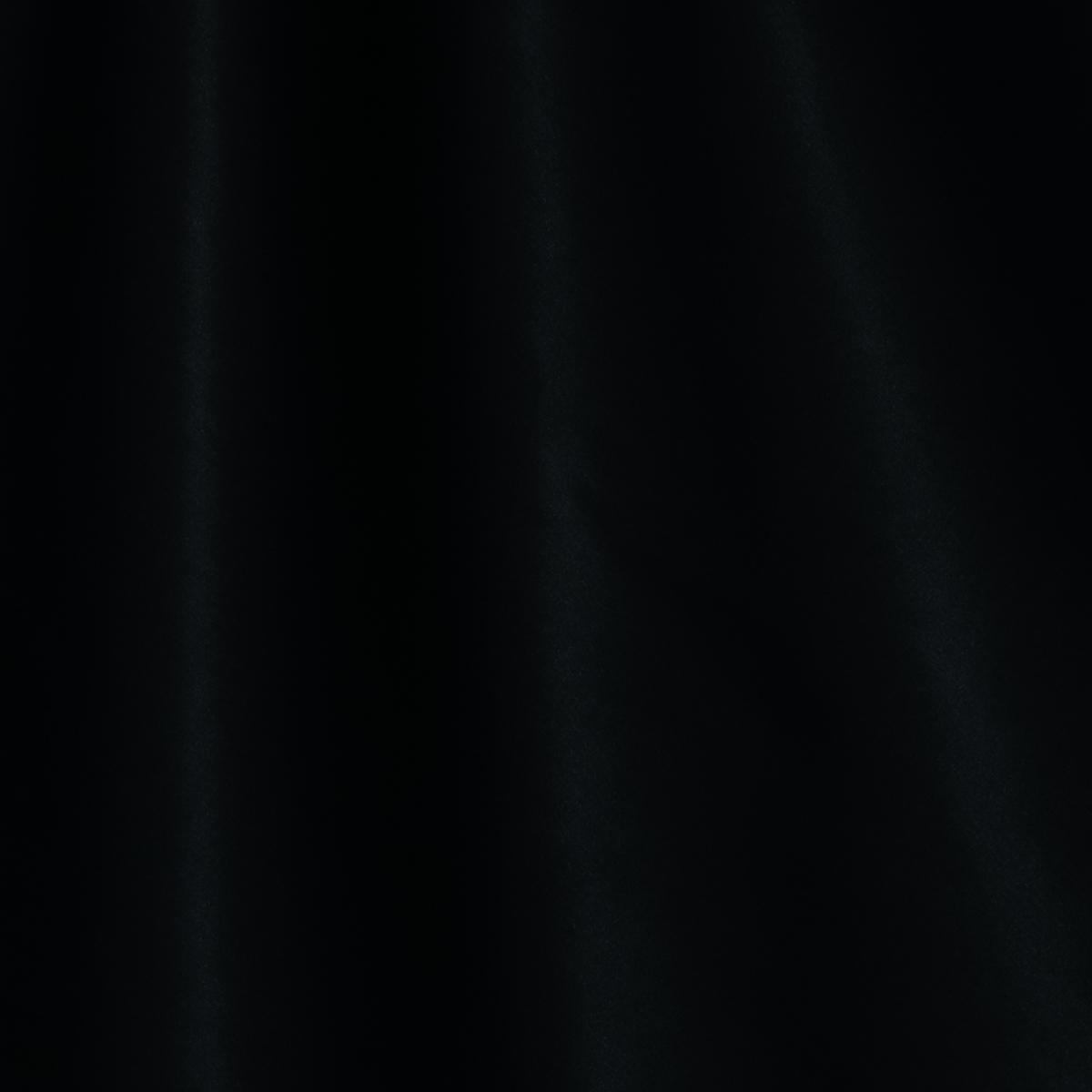Хлопковый атлас черного цвета
