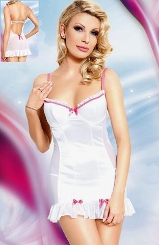 Комбинированная сорочка Lizzy белая