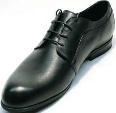 Кожаные туфли мужские классические Ikoc 060-1 ClassicBlack.