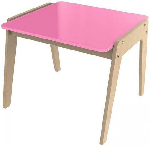 Стол для занятий розовый