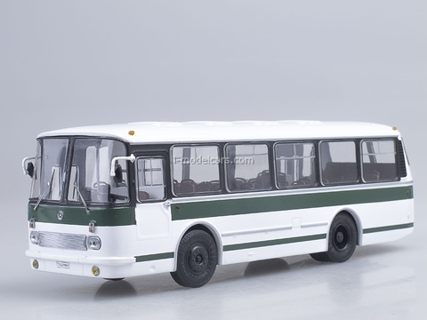 LAZ-695R white-green Soviet Bus 1:43
