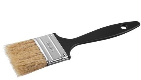 Кисть плоская СИБИН, пластиковая ручка, светлая смешанная щетина, 75мм