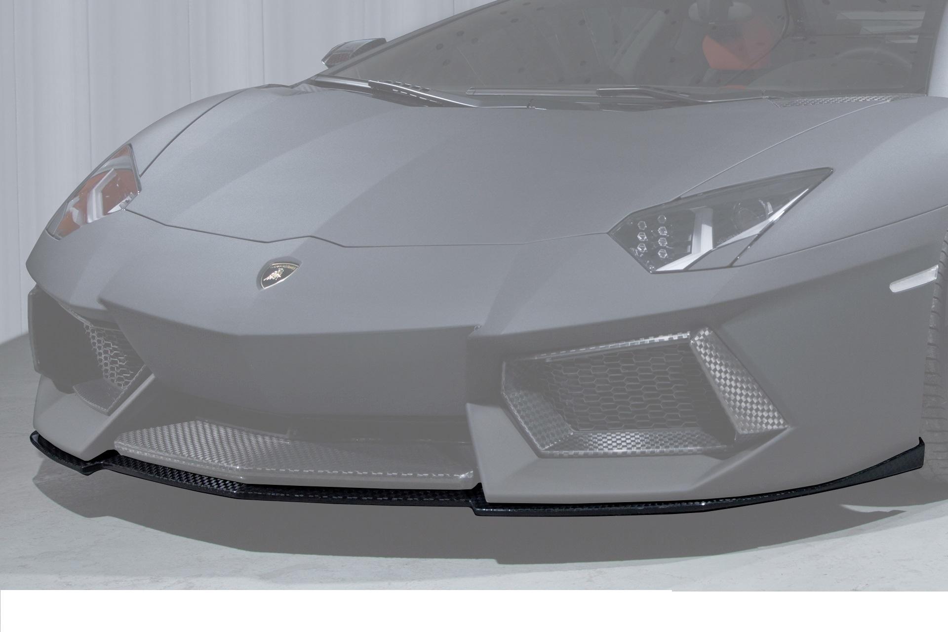 Карбоновый спойлер переднего бампера Mansory Style 2 для Lamborghini Aventador