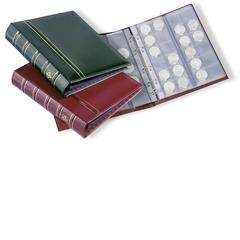 Альбом OPTIMA classic, с шубером, включая 10 листов для монет, зеленый (по 2 листа M15, M35, M54 и 4 листа M24)