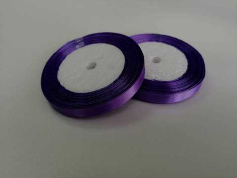 ЛЕНТА АТЛАСНАЯ 12ММ*25ЯРД (122) цвет Фиолетовый.