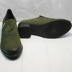 Удобные туфли на каждый день женские демисезонные Miss Rozella 503-08 Khaki.