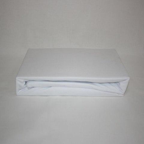 Простынь на резинке трикотажная 180x200 (белая)