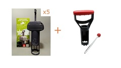 Комплект кротоловок Swissinno SuperCat Vole Trap 5шт с аксессуаром