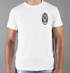Футболка с принтом FC Juventus (ФК Ювентус) белая 0011