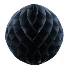 Бумажное украшение шар 20 см черный