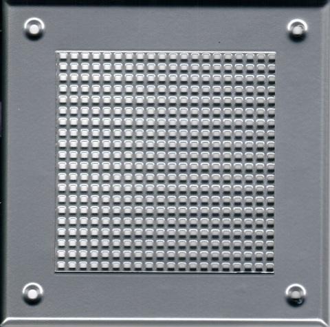 Решётка 210*210 хром, мелкая клетка