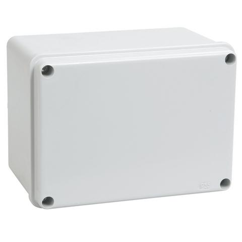Распаячная коробка ОП 150х110х85мм, крышка, IP44, гладкие стенки, инд. штрихкод, TDM