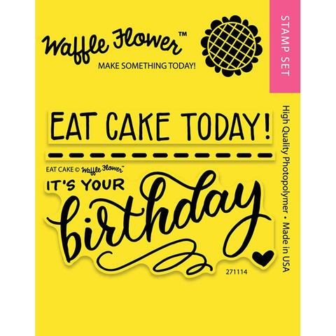 Набор штампов Waffle Flower Crafts Clear Stamps 7,5х10см  -Eat Cake