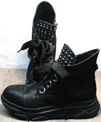 Осенние ботинки кроссовки женские Rifellini Rovigo 525 Black.