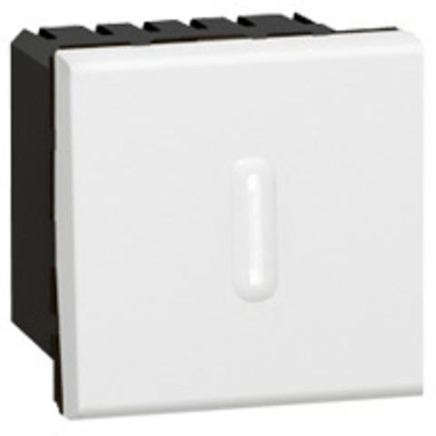 Выключатель с выдержкой времени 2 модуля. Цвет Белый. Legrand Mosaic (Легранд Мозаик). 078420