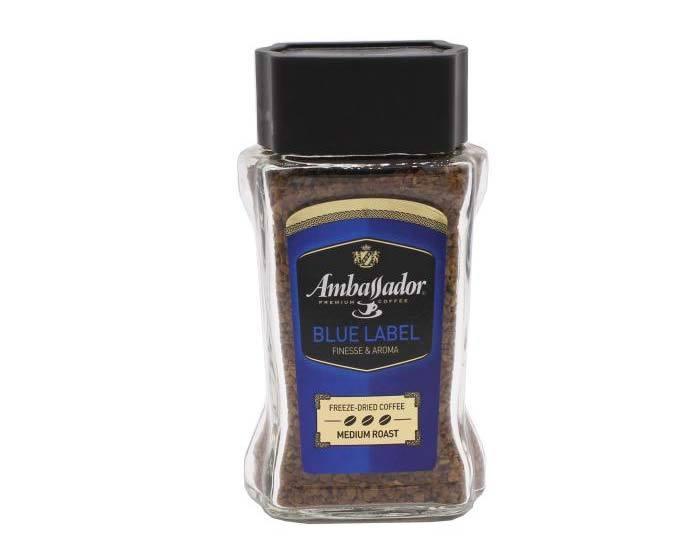 купить кофе растворимый Ambassador Blue Label, 95 г