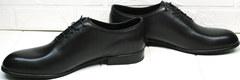 Стильные мужские туфли под черный костюм Ikoc 063-1 ClassicBlack.