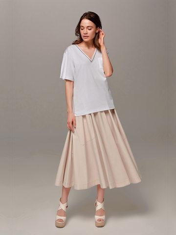 Женская белая футболка Eleventy - фото 4
