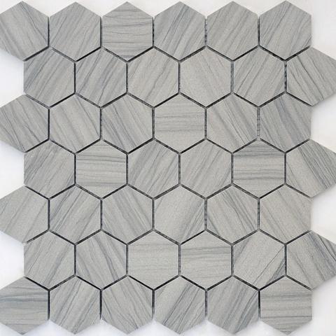 Мозаика Marmara Grey POL hex 23x40x8 292х290