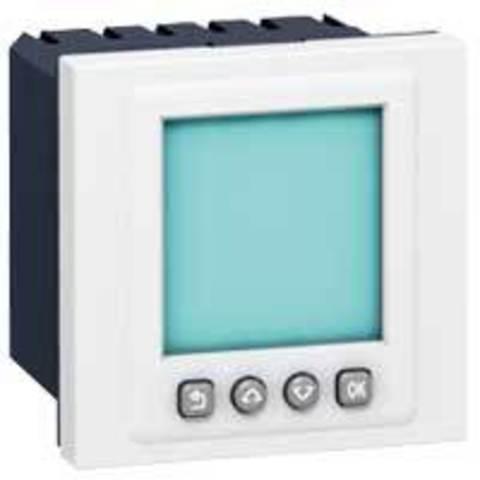 Выключатель с таймером программируемый 2 модуля. Цвет Белый. Legrand Mosaic (Легранд Мозаик). 078425