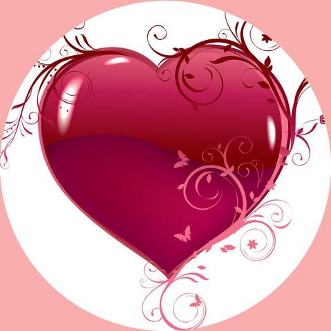 Печать на вафельной бумаге, День Влюбленных 8