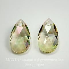 6106 Подвеска Сваровски Капля Crystal Luminous Green (16 мм)