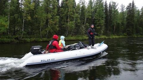 Надувная ПВХ-лодка Солар Максима - 555 К (светло-серый)