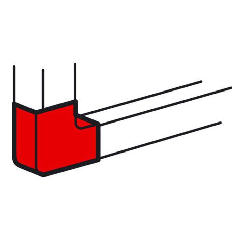 Кабель-канал 85x50 Плоский угол 90°. Цвет Белый. Legrand Metra (Легранд Метра). 638023