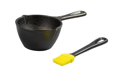 Набор 2 предмета: чугунный соусник с кулинарной кистью из силикона, артикул LMPB21