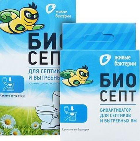 Биоактиватор Биосепт для септиков с водяным сливом 50 г 2 дозы