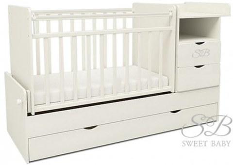 Кровать-трансформер Sweet Baby Valentino Bianco Белый