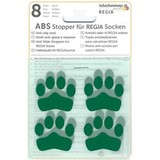 ABS-противоскользящие наклейки Regia для носков зеленый (8 шт.)