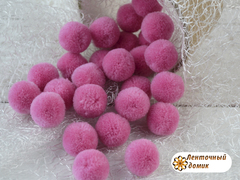 Помпоны кашемировые темно-розовые 20 мм