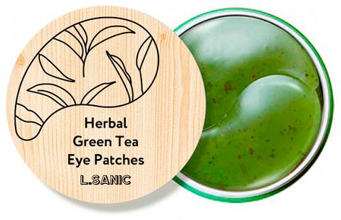 L.Sanic Herbal Патчи по глаза гидрогелевые с экстрактом зеленого чая